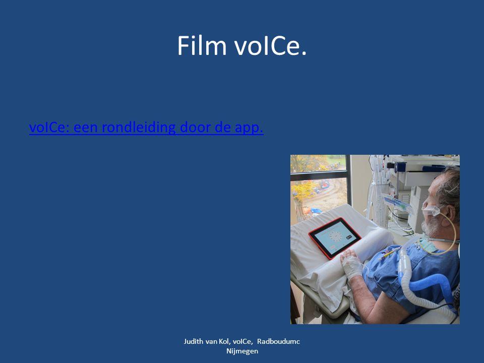 Film voICe. voICe: een rondleiding door de app. Judith van Kol, voICe, Radboudumc Nijmegen