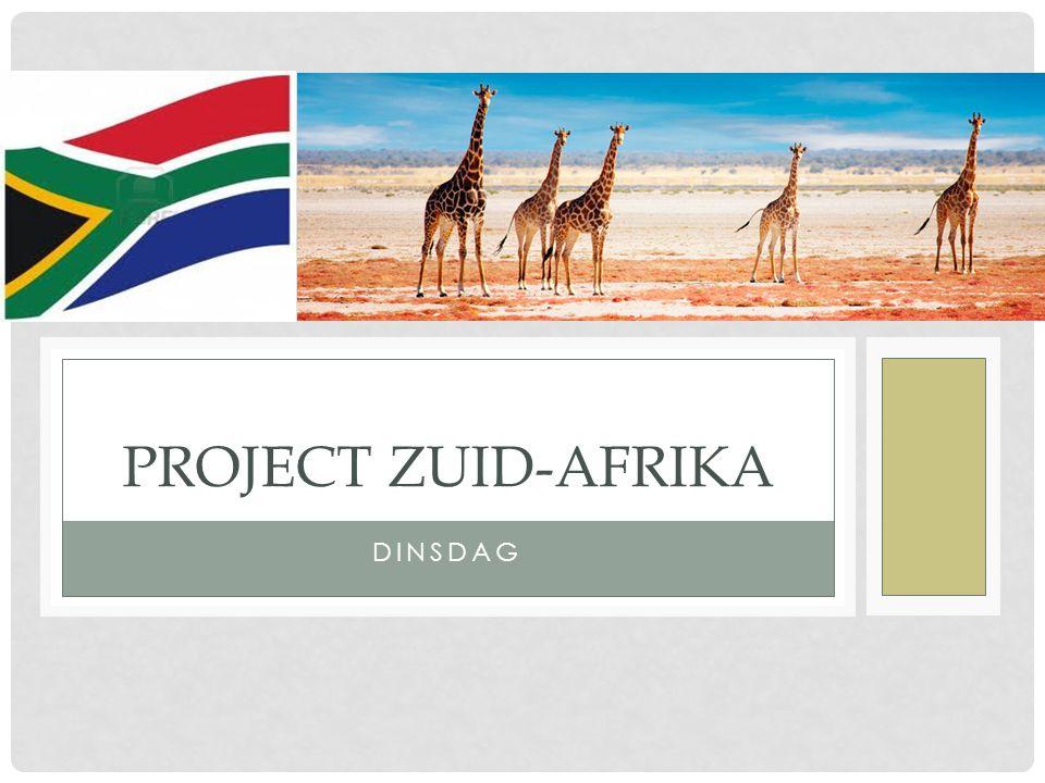 DINSDAG PROJECT ZUID-AFRIKA