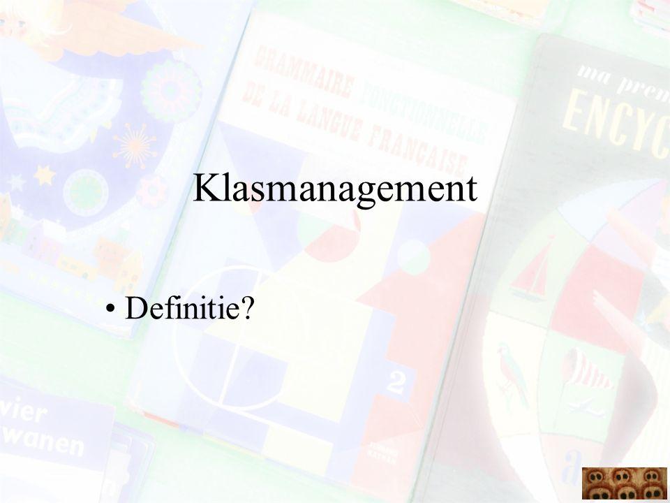 Het plannen van klasmanagement Een goede lesvoorbereiding voorkomt problemen met klasmanagement Nemen van preventieve maatregelen die betrekking hebben op de verschillende elementen in het referentiekader (zie preventieve maatregelen bij conflictoplossing)