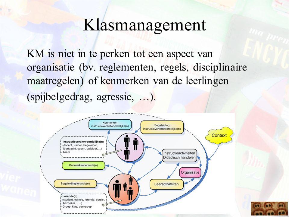 KM is niet in te perken tot een aspect van organisatie (bv. reglementen, regels, disciplinaire maatregelen) of kenmerken van de leerlingen (spijbelged