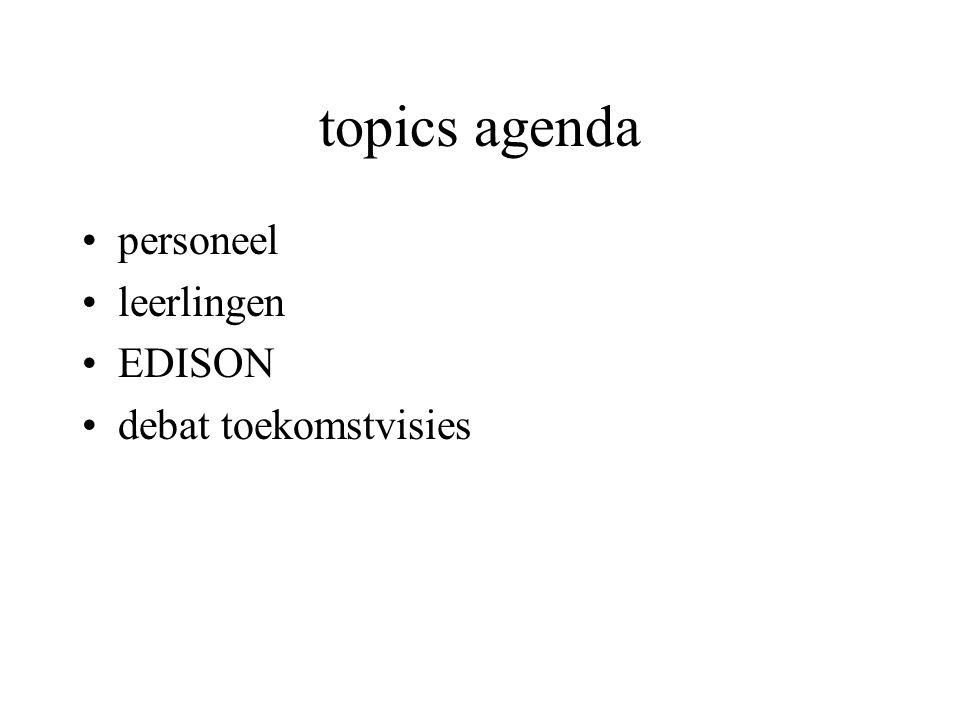 topics agenda personeel leerlingen EDISON debat toekomstvisies