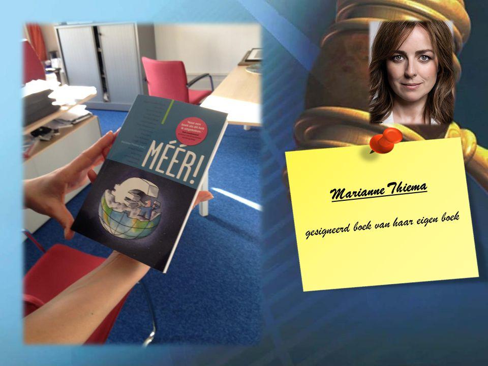 Marianne Thiema gesigneerd boek van haar eigen boek