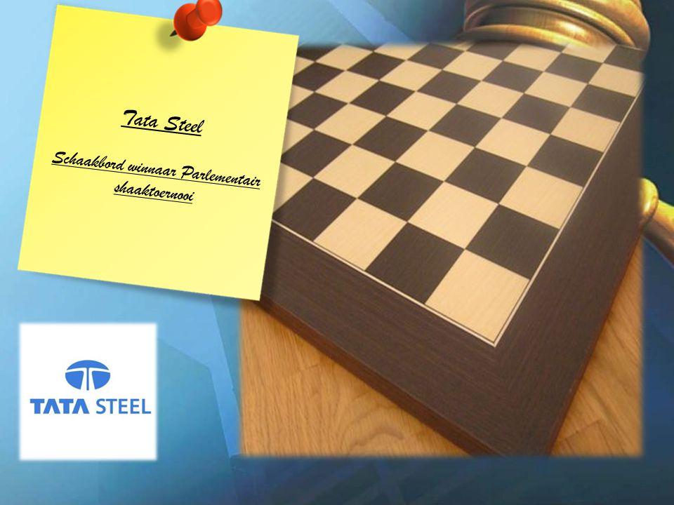 Tata Steel Schaakbord winnaar Parlementair shaaktoernooi