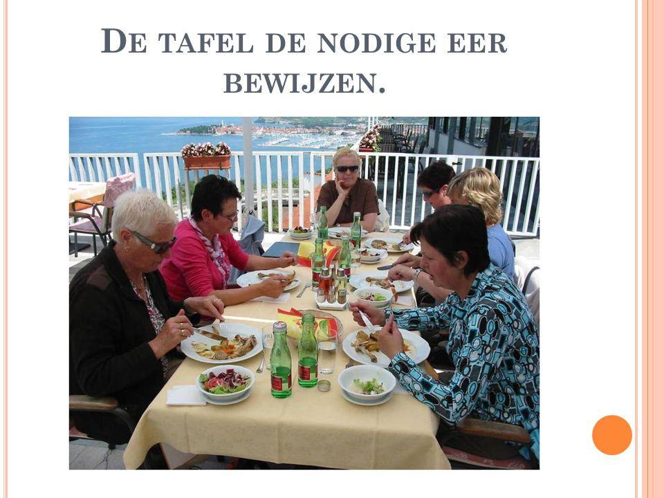 D E TAFEL DE NODIGE EER BEWIJZEN.