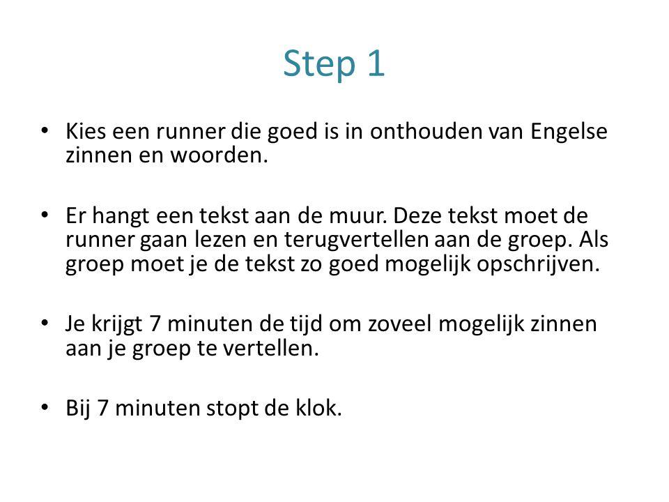 Step 1 Kies een runner die goed is in onthouden van Engelse zinnen en woorden.