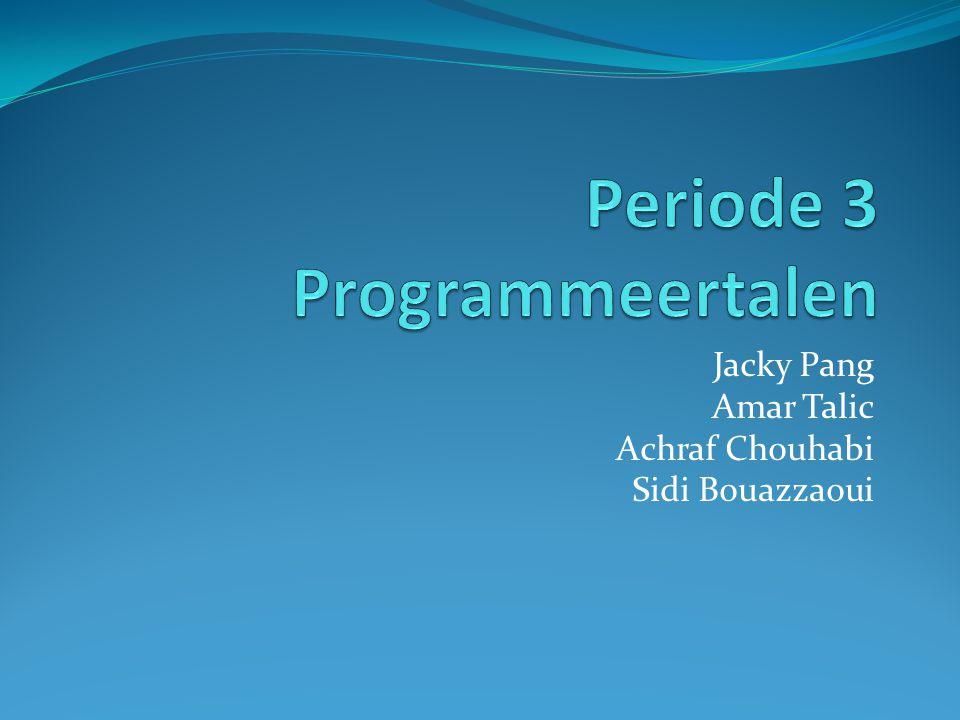 Programmeertaal ´´Een programmeertaal is een formele taal waarin de opdrachten die een computer moet uitvoeren, worden geschreven.