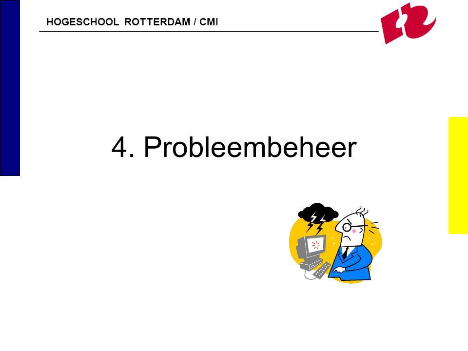 HOGESCHOOL ROTTERDAM / CMI 4. Probleembeheer