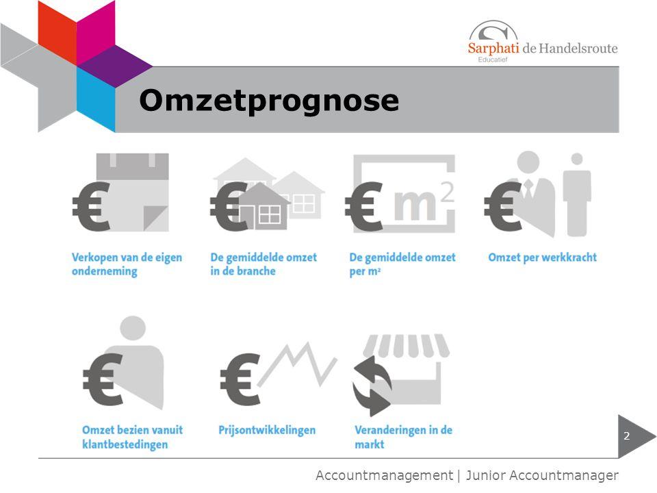 Omzetprognose 2 Accountmanagement | Junior Accountmanager