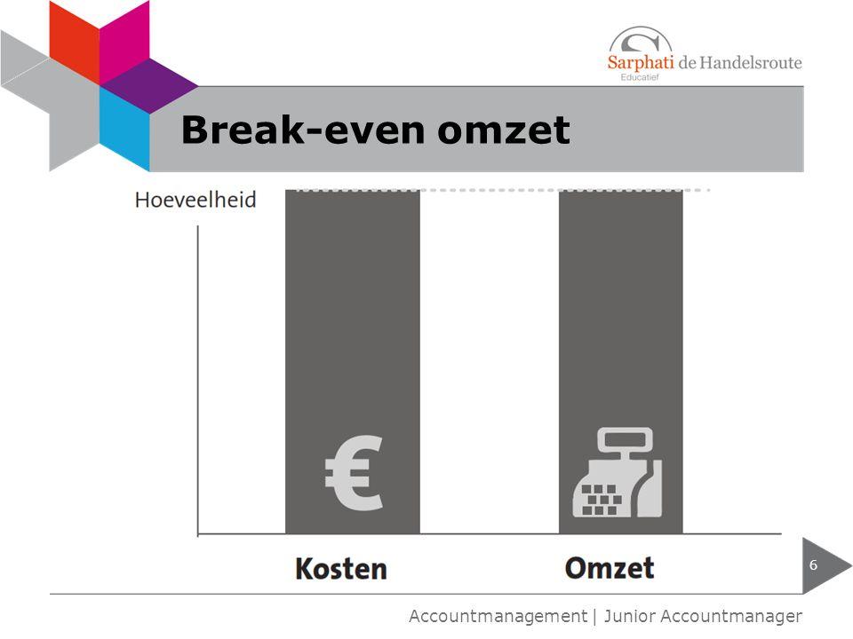 Break-even omzet 6 Accountmanagement | Junior Accountmanager