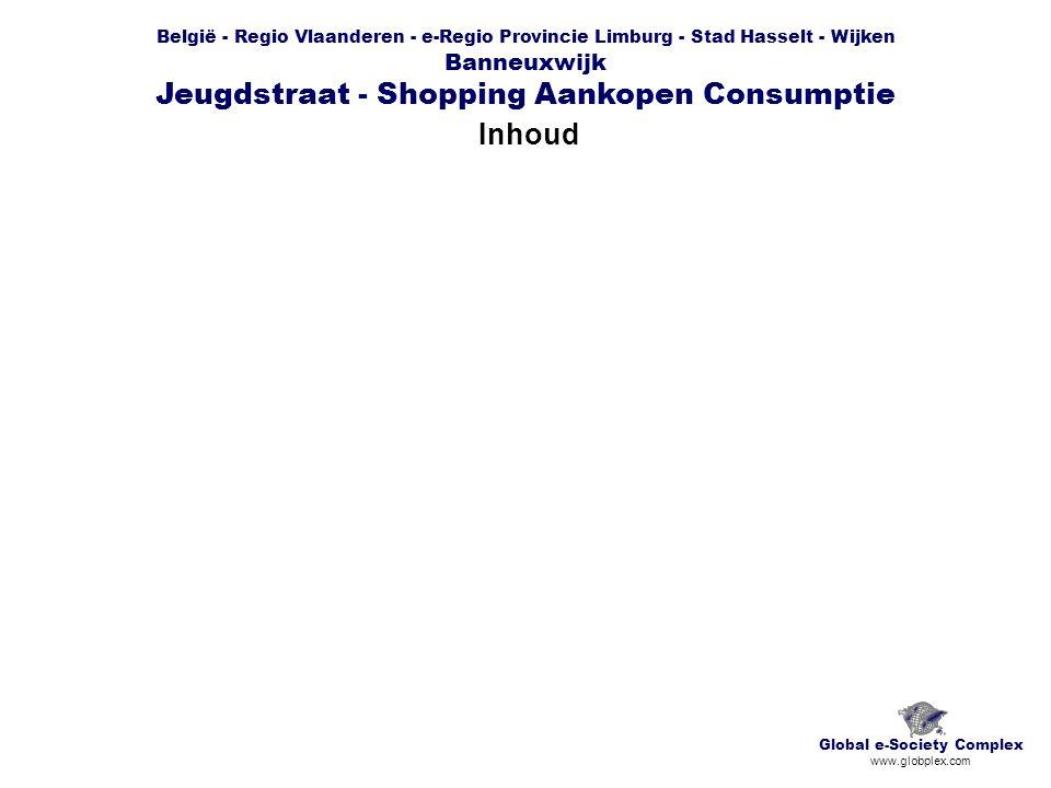 België - Regio Vlaanderen - e-Regio Provincie Limburg - Stad Hasselt - Wijken Banneuxwijk Jeugdstraat - Shopping Aankopen Consumptie Inhoud Global e-Society Complex www.globplex.com