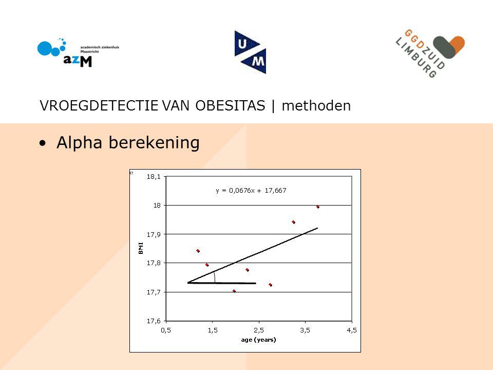 Alpha berekening VROEGDETECTIE VAN OBESITAS | methoden