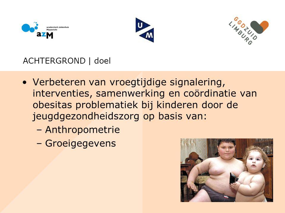 Verbeteren van vroegtijdige signalering, interventies, samenwerking en coördinatie van obesitas problematiek bij kinderen door de jeugdgezondheidszorg