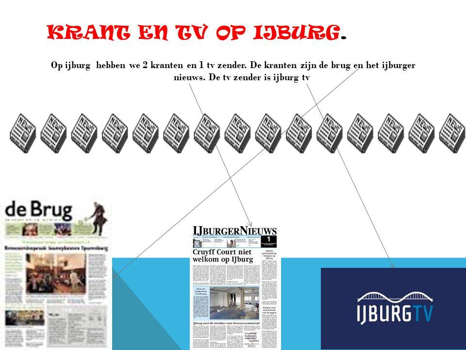 KRANT EN TV OP IJBURG.Op ijburg hebben we 2 kranten en 1 tv zender.