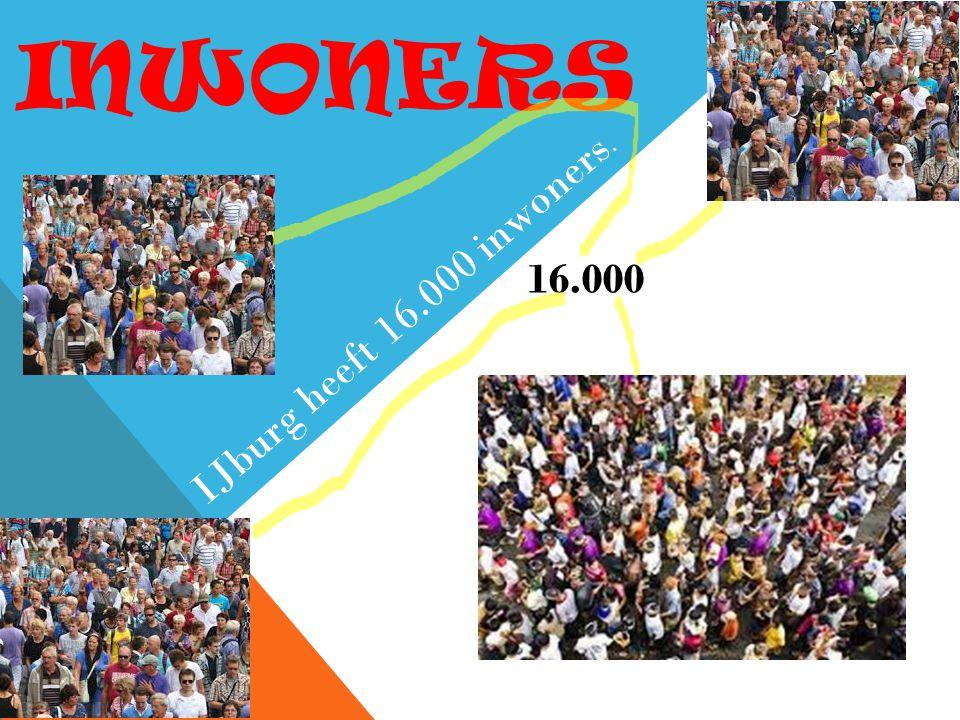 INWONERS 16.000 IJburg heeft 16.000 inwoners.