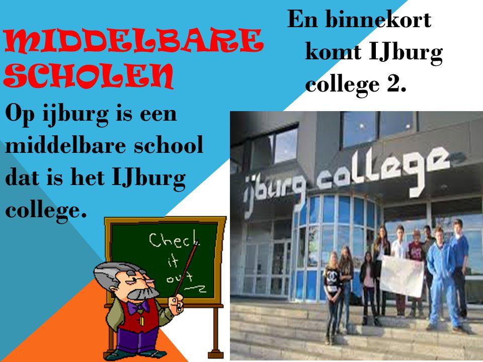 MIDDELBARE SCHOLEN En binnekort komt IJburg college 2.