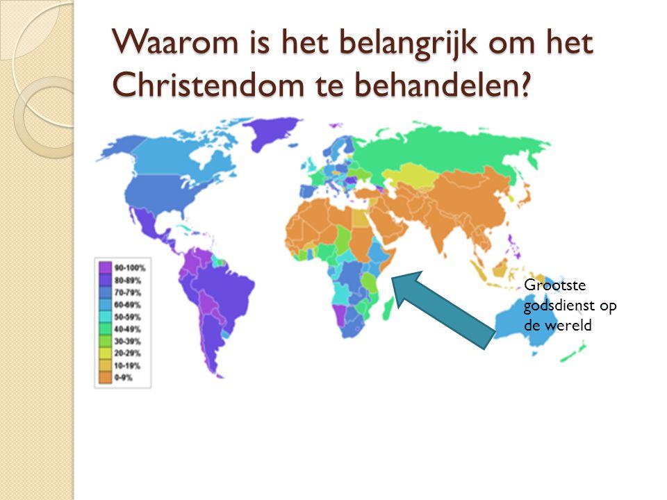 Waarom is het belangrijk om het Christendom te behandelen? Grootste godsdienst op de wereld