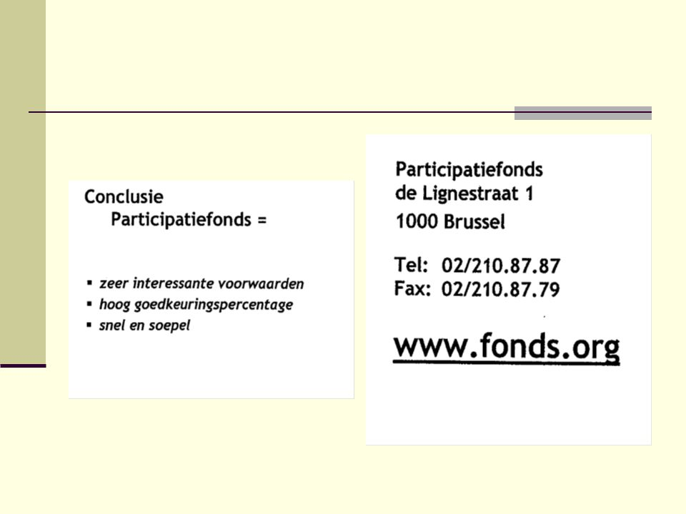 Participatiefonds - Impulsfonds