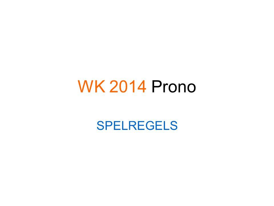 WK 2014 Prono SPELREGELS