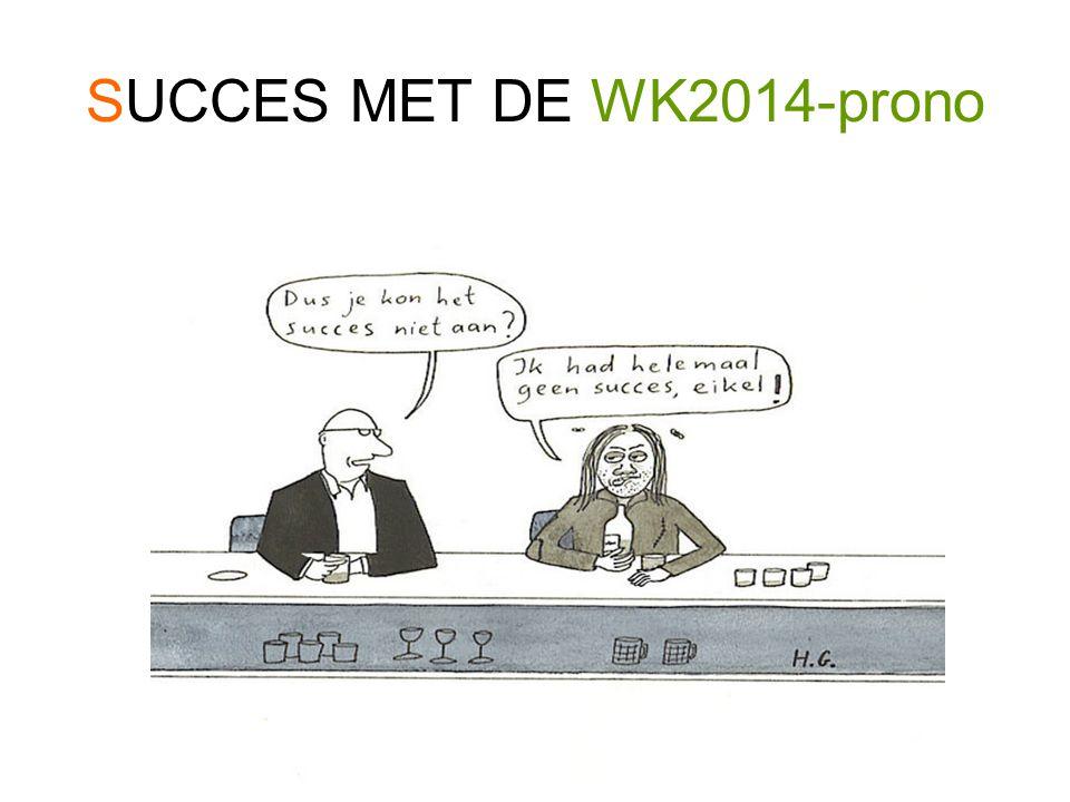 SUCCES MET DE WK2014-prono