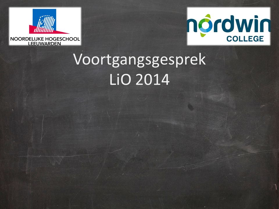 Voortgangsgesprek LiO 2014