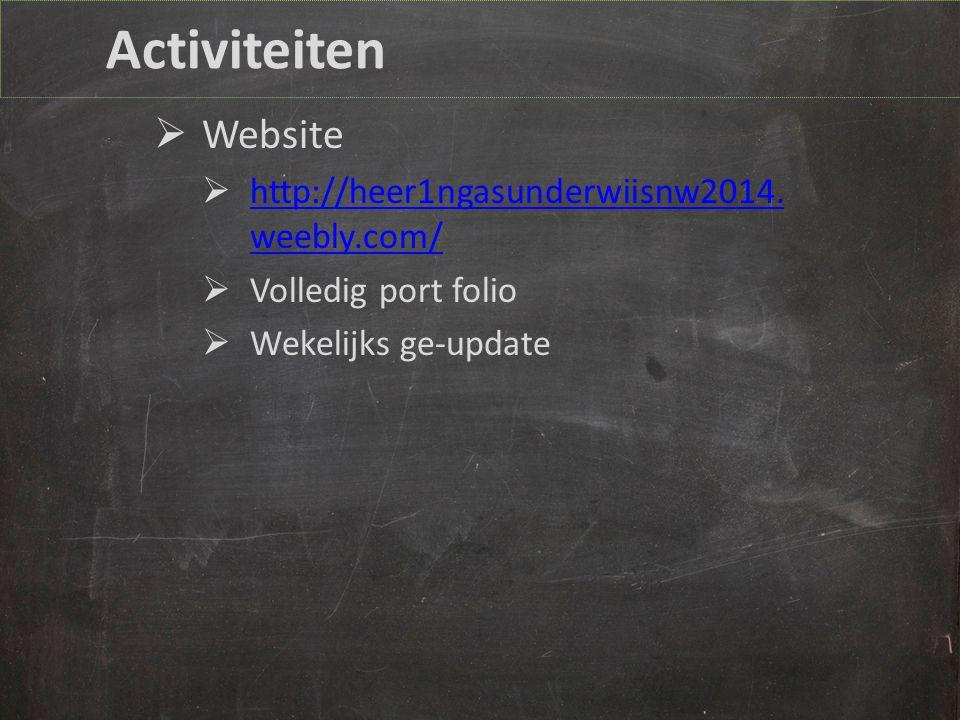 Activiteiten  Website  http://heer1ngasunderwiisnw2014.
