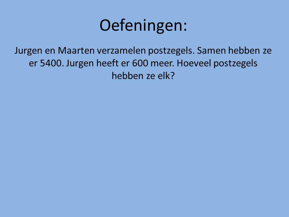 Jurgen en Maarten verzamelen postzegels.Samen hebben ze er 5400.