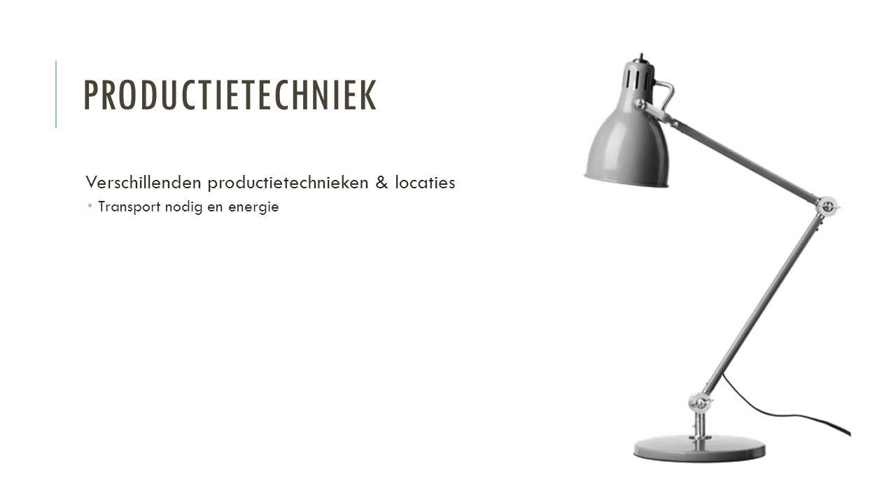DISTRIBUTIE Producent: IKEA Meer dan 50 fabrieken verspreid over de wereld Afstand productie-verkoop blijft beperkt Flatpack, voordeel voor transport Minimale verpakking