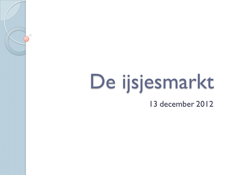 De ijsjesmarkt 13 december 2012