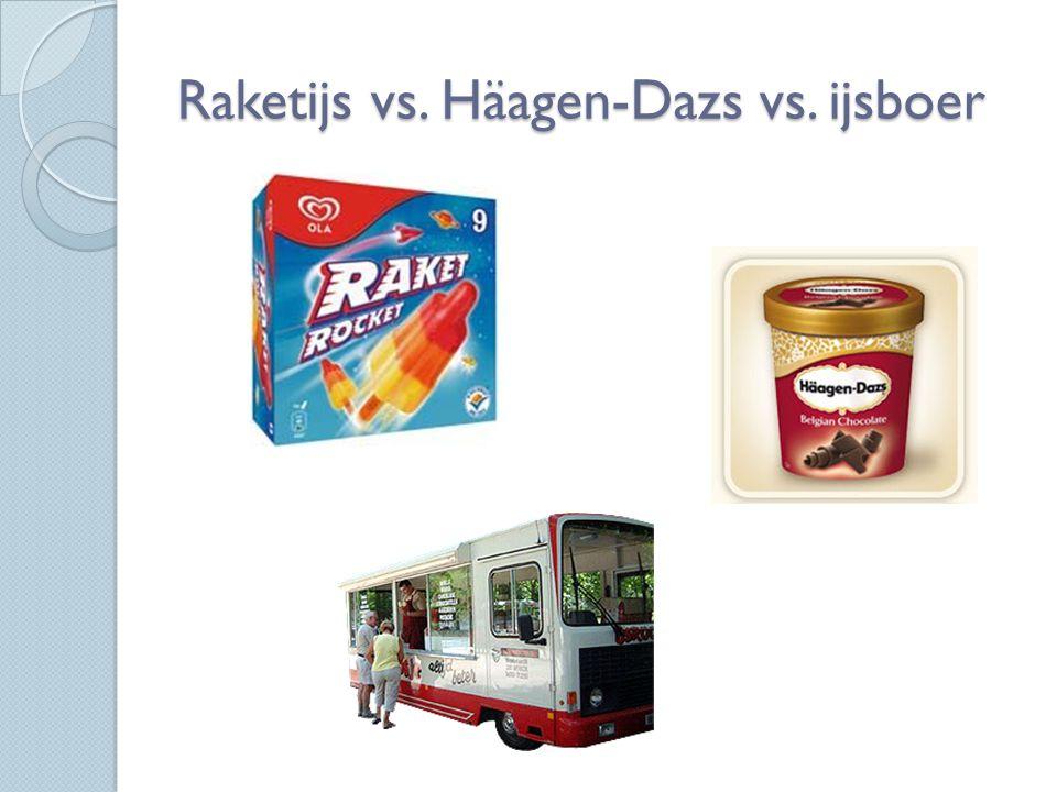 Raketijs vs. Häagen-Dazs vs. ijsboer