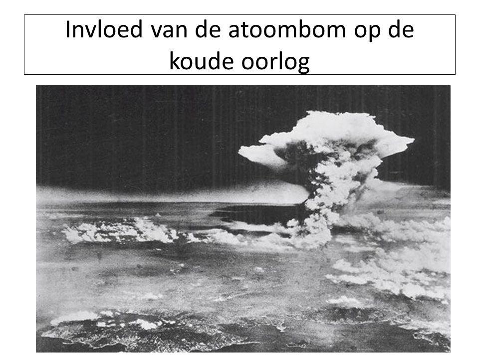 Invloed van de atoombom op de koude oorlog