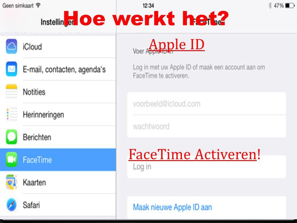 Hoe werkt het? Apple ID FaceTime Activeren!