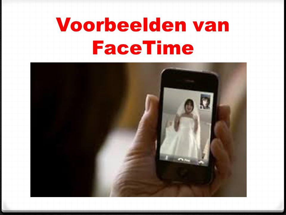 Voorbeelden van FaceTime