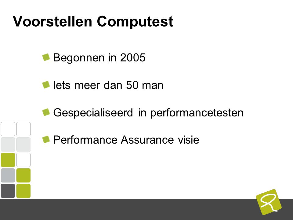 COMPUTEST BORREL – 2 Mei 2014 De zaal Performancetesters in de zaal.