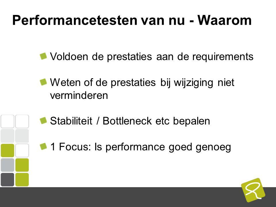 COMPUTEST BORREL – 2 Mei 2014 Performancetesten van nu - Waarom Voldoen de prestaties aan de requirements Weten of de prestaties bij wijziging niet verminderen Stabiliteit / Bottleneck etc bepalen 1 Focus: Is performance goed genoeg