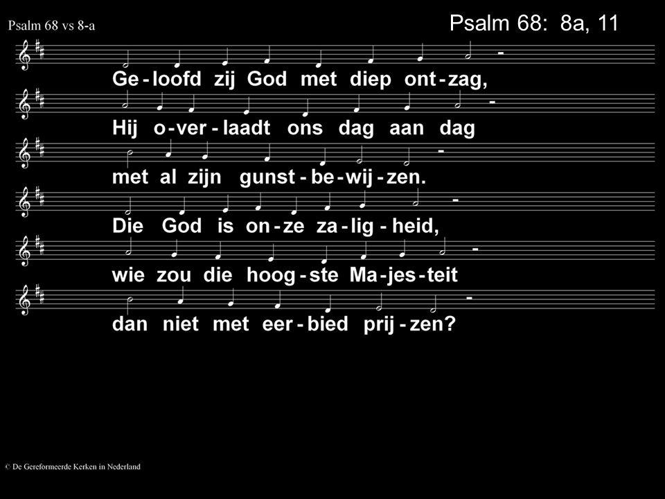 Psalm 68: 8a, 11
