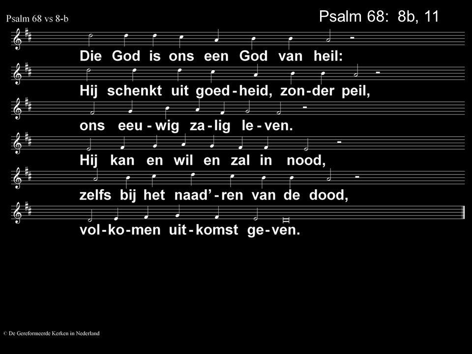 Psalm 68: 8b, 11