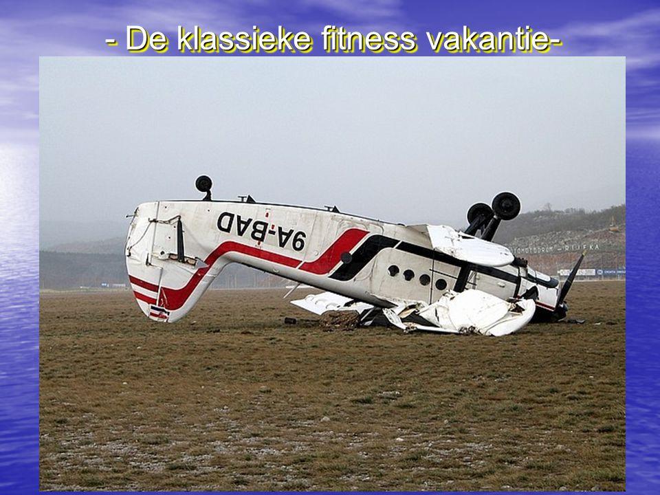 - De klassieke fitness vakantie-