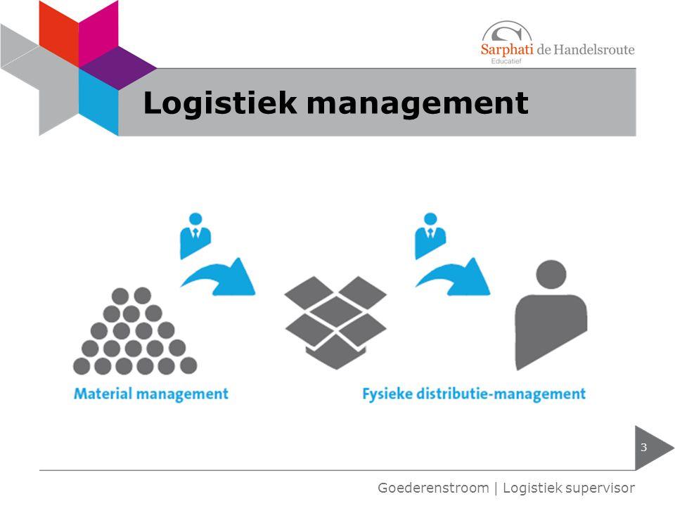 Logistiek management 3 Goederenstroom | Logistiek supervisor