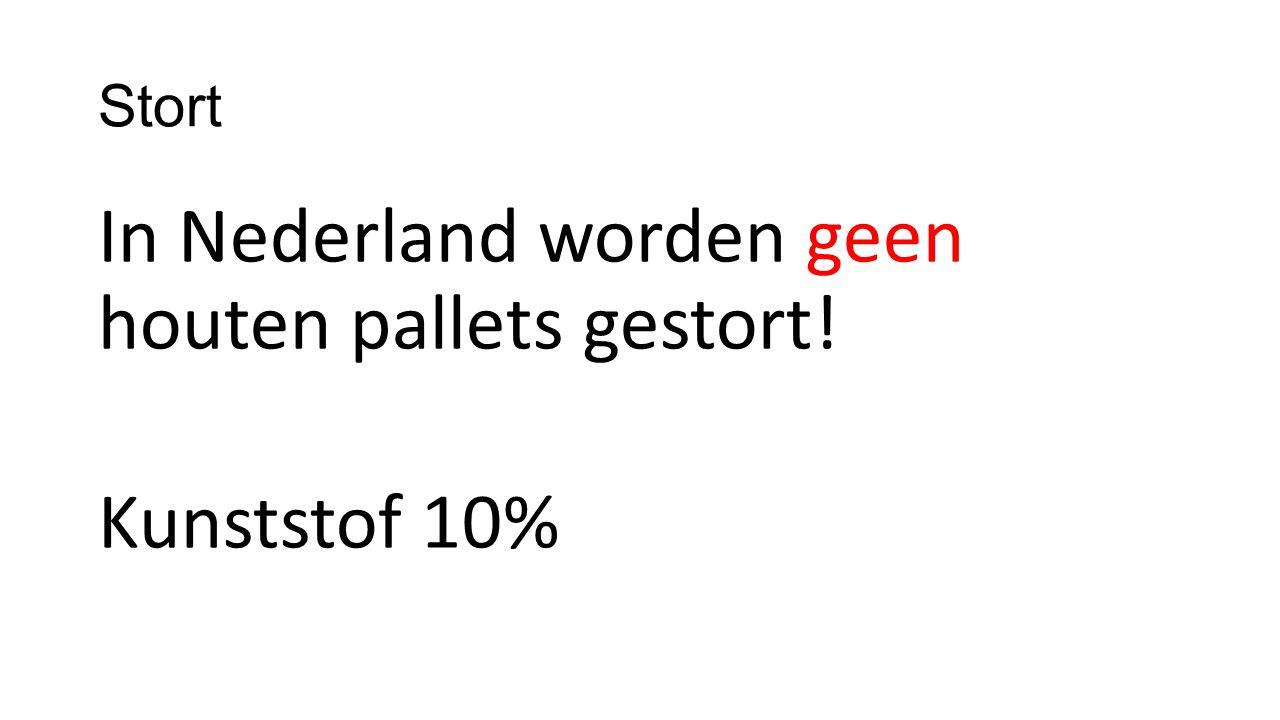 Stort In Nederland worden geen houten pallets gestort! Kunststof 10%