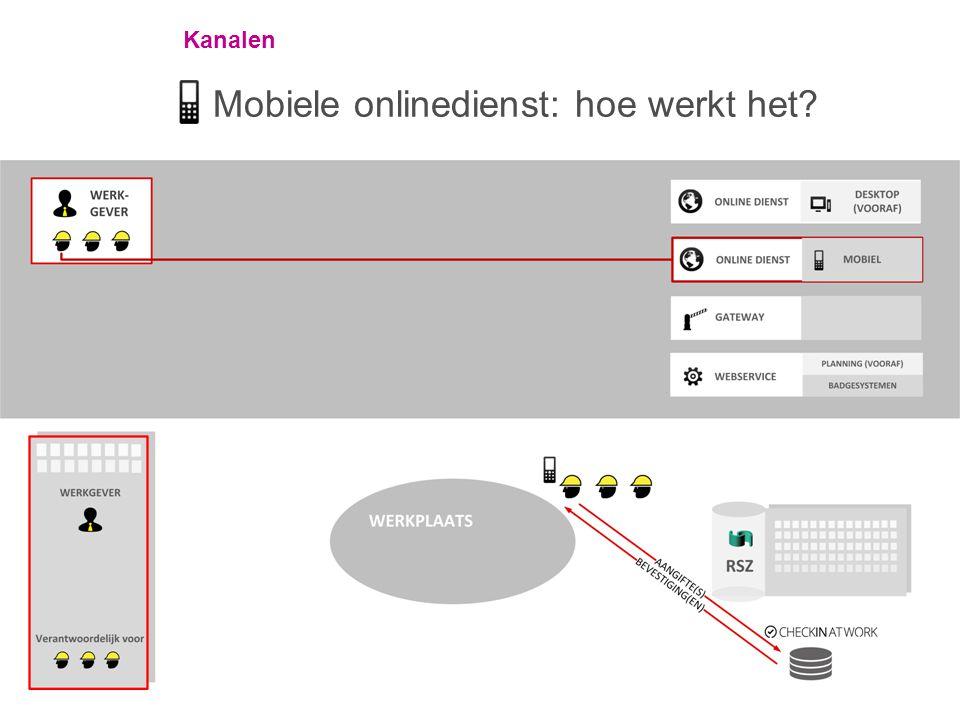 Kanalen Mobiele onlinedienst: hoe werkt het?