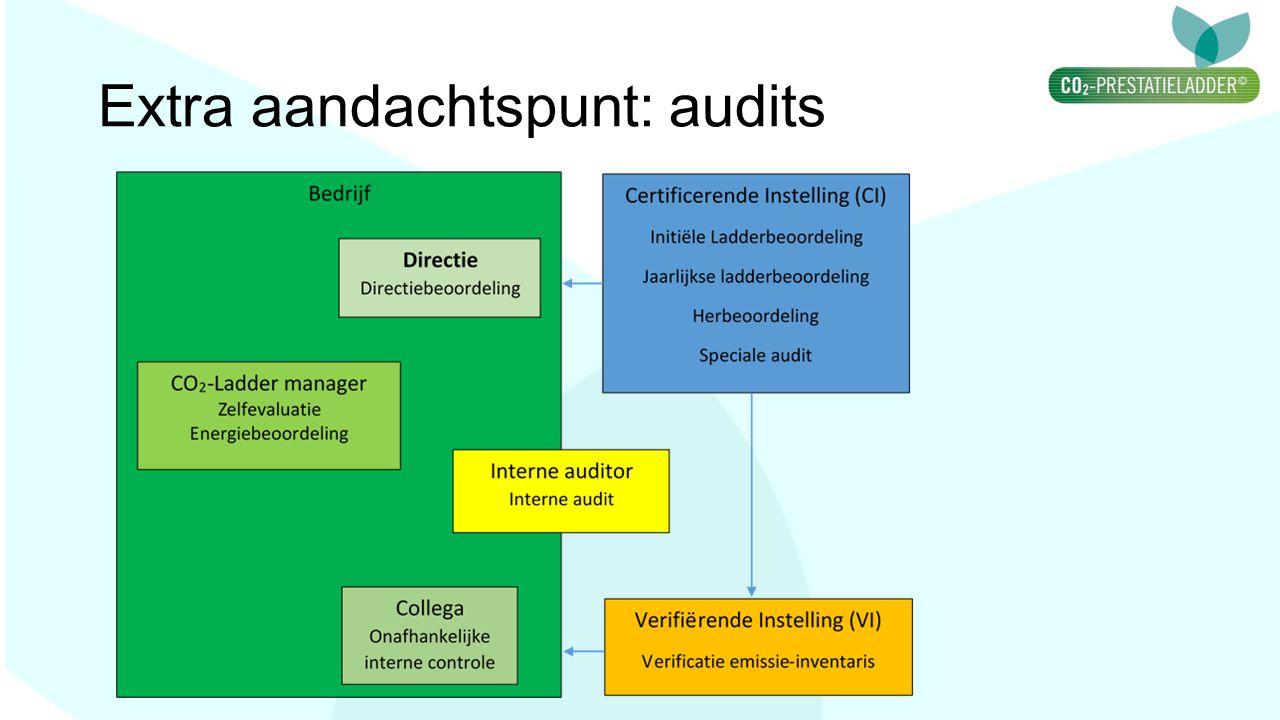 Extra aandachtspunt: audits