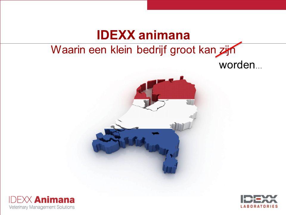 IDEXX animana Waarin een klein bedrijf groot kan zijn worden …