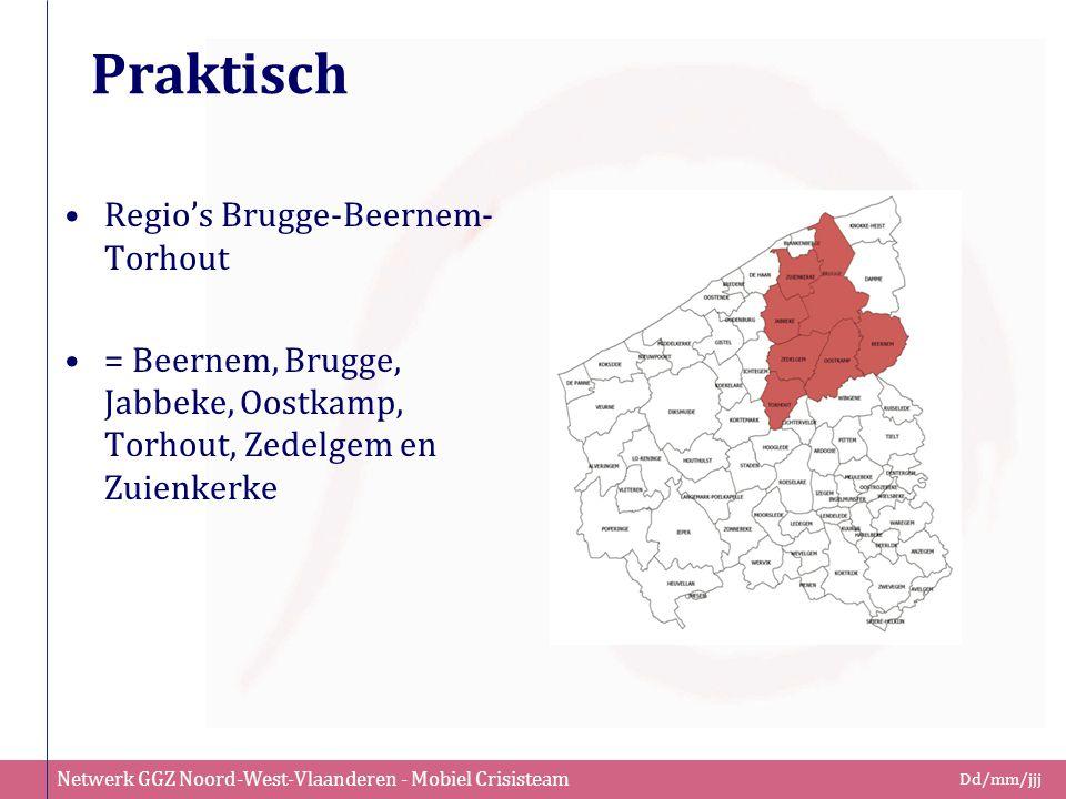 Netwerk GGZ Noord-West-Vlaanderen - Mobiel Crisisteam Dd/mm/jjj Praktisch Regio's Brugge-Beernem- Torhout = Beernem, Brugge, Jabbeke, Oostkamp, Torhou