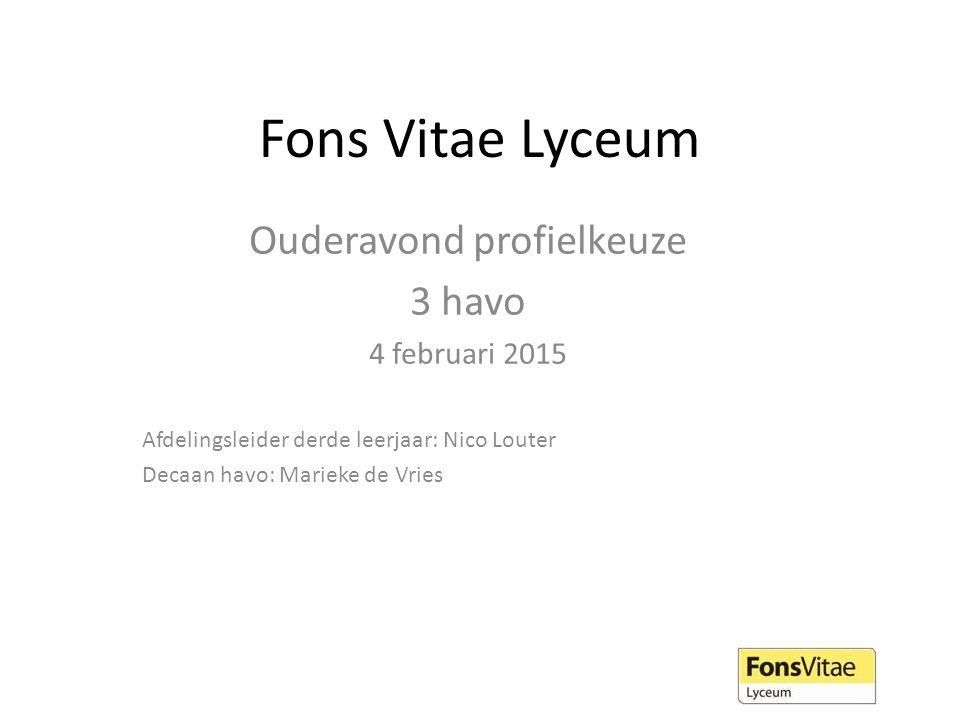 Vragen? Marieke de Vries (decaan havo) vries@fonsvitae.nl ma-di-do vries@fonsvitae.nl