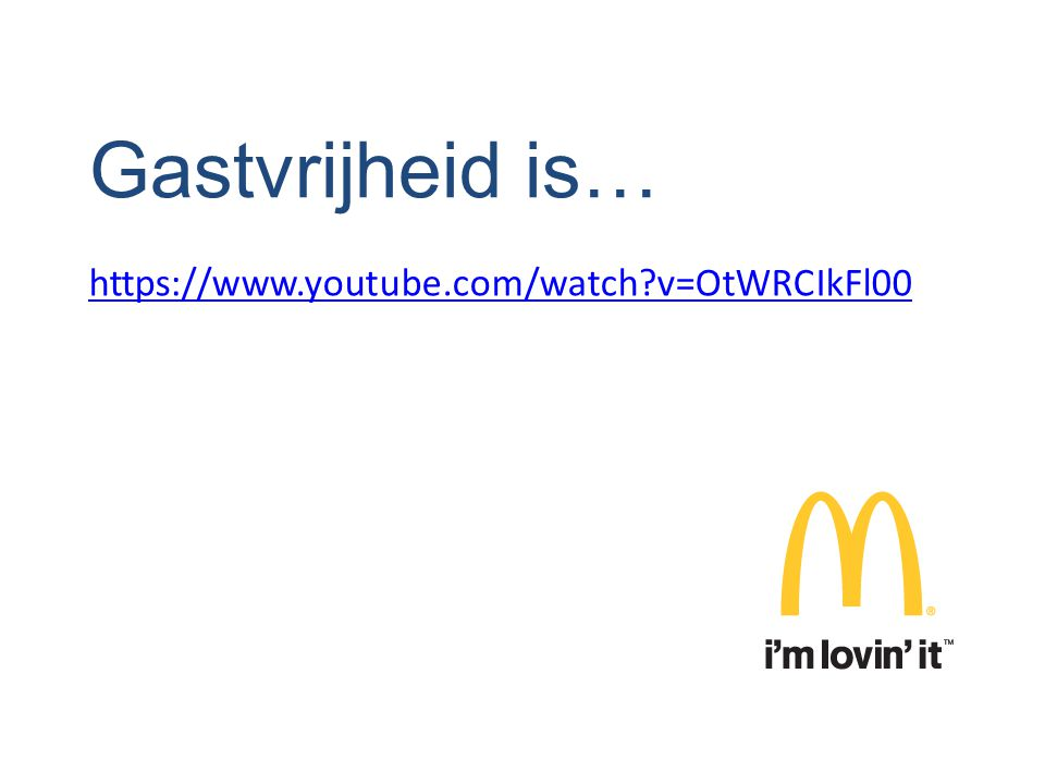Gastvrijheid is… https://www.youtube.com/watch v=OtWRCIkFl00