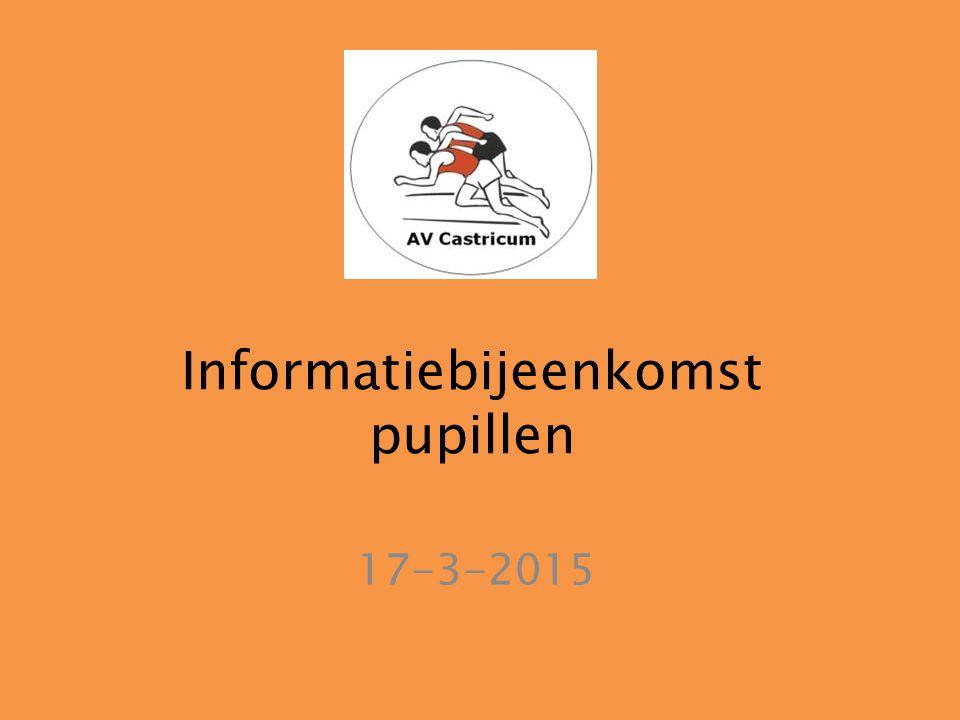 Informatiebijeenkomst pupillen 17-3-2015