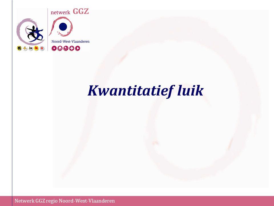 Netwerk GGZ regio Noord-West-Vlaanderen Verknoping met andere functies  Preventie en vroegdetectie (functie 1)  Outreachend werken (functie 2)  Rehabilitatie (functie 3 en 5)