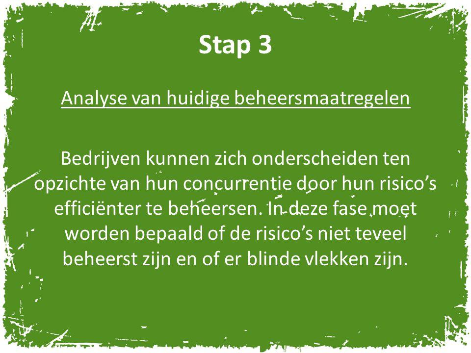 Stap 4 Ontwerpen en uitvoeren actieplannen Nadat de reeds getroffen beheersmaatregelen in kaart zijn gebracht, moet de financieel manager een keuze maken.