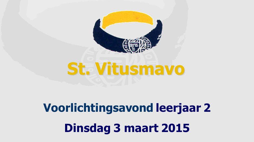 St. Vitusmavo Voorlichtingsavond leerjaar 2 Dinsdag 3 maart 2015