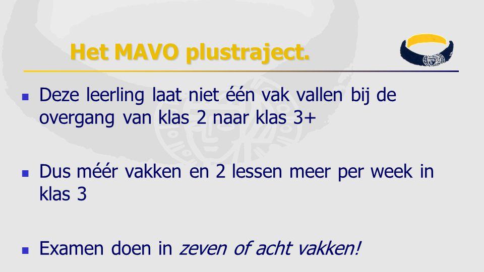 Het MAVO plustraject.